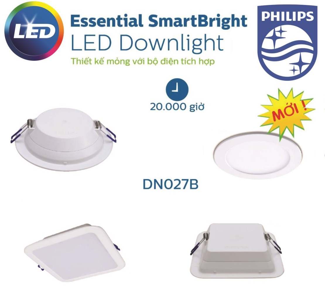 Den Downlight Am Tran Led Philips Dn027b
