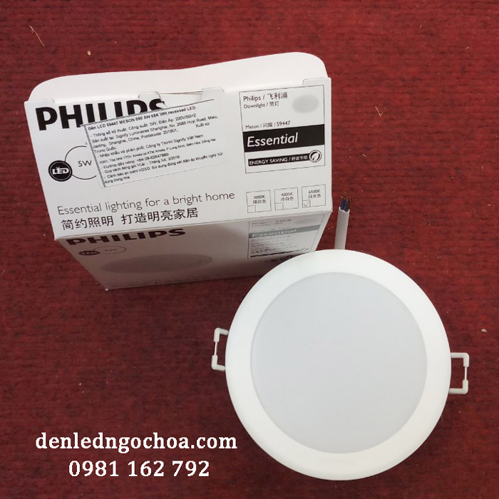 Den Led Am Tran Philips Meson 5w Phi90 59447 Mat Truoc