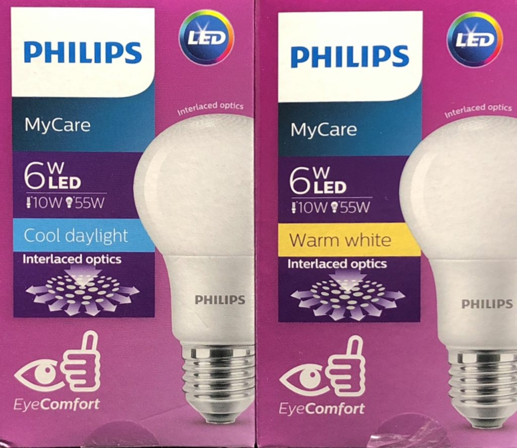 Bong Den Led Bulb Philips Eco Bright 6w 3000k Anh Sang Vang