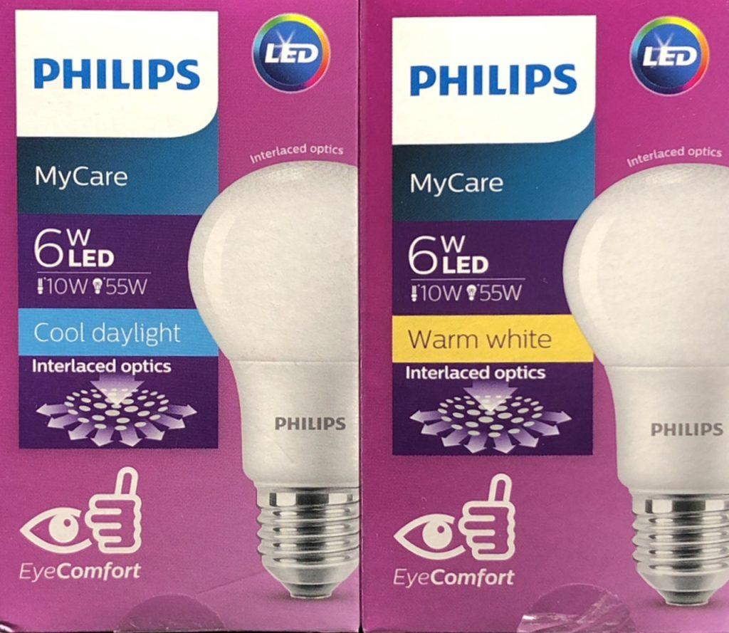 Bong Den Led Bulb Philips Eco Bright 6w 3000k Anh Sang Vang