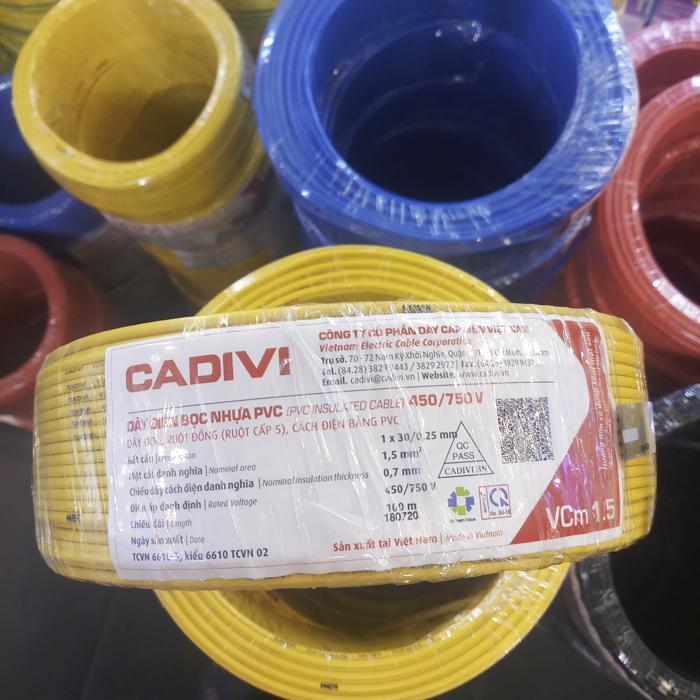 Day Cadivi VCm 1.5 Vang